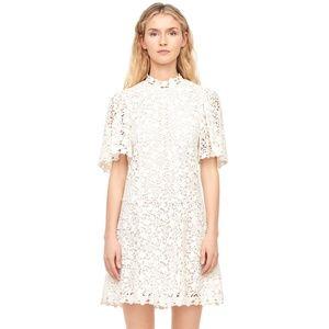 Rebecca Taylor Floral Lace High Neck Dress 4